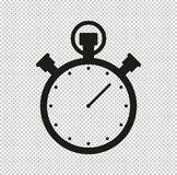Stopwatch - black vector icon. Stopwatch - vector icon, design icon or logos for business, web vector illustration