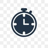 Stopwatch vector icon isolated on transparent background, Stopwatch transparency concept can be used web and mobile vector illustration
