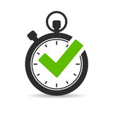Stopwatch vector icon Stock Images