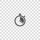 Stopwatch vector icon. On white background stock illustration