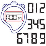 Stopwatch. Vector illustration. Stock Images