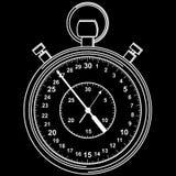Stopwatch. Vector illustration. Stock Photo