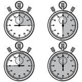 Stopwatch. Vector illustration. Royalty Free Stock Image