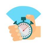 Stopwatch w ręce royalty ilustracja