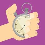 Stopwatch w ręki ikonie odizolowywającej, wektor Zdjęcie Stock