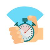 Stopwatch w ręce Obraz Stock