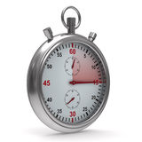 Stopwatch on white background Royalty Free Stock Images