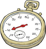 Stopwatch. On a white background vector illustration royalty free illustration