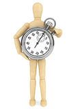 StopWatch with wooden dummy Stock Image