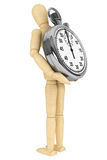 StopWatch with wooden dummy Stock Images