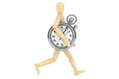 StopWatch with wooden dummy Royalty Free Stock Photography