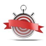 Stopwatch z czerwoną etykietką Obrazy Royalty Free