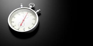 Stopwatch, zegar, analog odizolowywający na białym tle ilustracja 3 d Zdjęcia Royalty Free