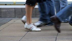 stopy chodzić Obrazy Royalty Free