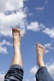 stopy oddolny przedni prawy obraz royalty free