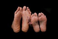 stopy rodzinne Fotografia Royalty Free