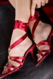 stopy s kobiety Zdjęcie Royalty Free