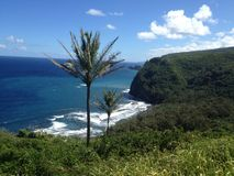 Stor ö Hawaii arkivbild