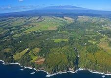 Stor ö, Hawaii, en flyg- sikt Royaltyfri Fotografi