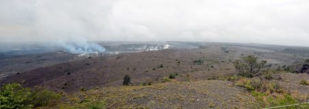 Stor ö Hawaii för aktiv vulkan Royaltyfria Foton
