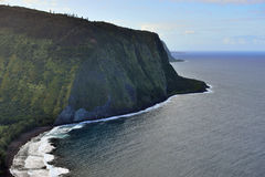 Stor ö Hawaii USA för Waipio dalutkik Arkivbilder