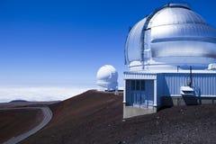 Stor öMauna Kea Gemini observatorium Hawaii Arkivfoton
