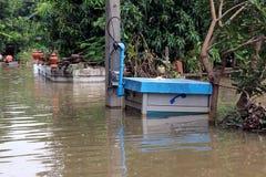 Stor översvämning i Thailand Royaltyfria Bilder