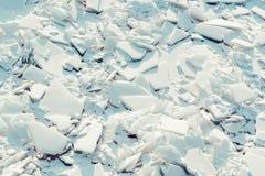 Stor abstrakt textur av den brutna isen Royaltyfria Bilder
