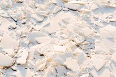 Stor abstrakt textur av den brutna isen Fotografering för Bildbyråer