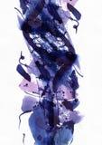 Stor abstrakt vattenfärgbakgrund Livliga blått och purpurfärgade färger på kornigt texturerat papper Stor rasterillustration vektor illustrationer