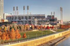 Stor amerikansk basebollarena i Cincinnati Royaltyfri Bild