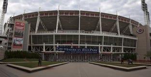 Stor amerikansk basebollarena i Cincinnati Fotografering för Bildbyråer