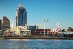 Stor amerikansk basebollarenastadion i Cincinnati Arkivfoto