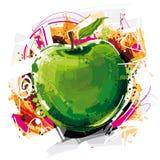 Stor Apple målning Royaltyfri Fotografi