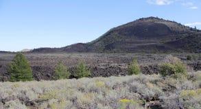 Stor askabutte - krater av månen, idaho USA Arkivfoto