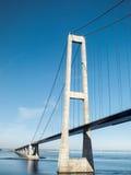 Stor bälteupphängningbro, Danmark Arkivfoto