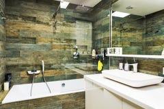 stor badrum Fotografering för Bildbyråer