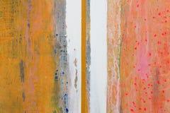 Stor bakgrund eller texturerar abstrakt oljemålning Vertikala lin Arkivfoton