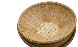 Stor bambukorg - Thailand Arkivbild