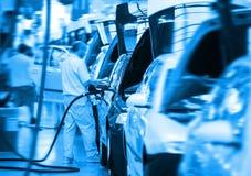 stor bilfabrik Fotografering för Bildbyråer