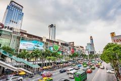 Stor bilpropp i Bangkok Arkivfoto
