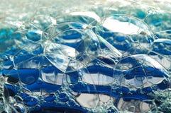 stor blå bubbla Royaltyfri Bild