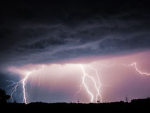 Stor blixt Arkivfoton