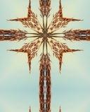 stor bluestem cross2 Royaltyfria Bilder