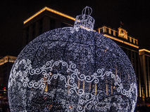 Stor boll för nytt år Arkivbilder