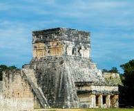 Stor bolldomstol och tempel av jaguarna Royaltyfri Fotografi