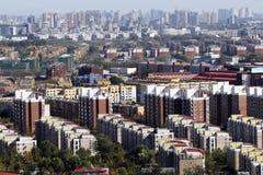 stor bostadsscale för område Arkivfoton