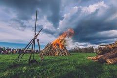Stor brand för påsk i Potsdam Royaltyfri Bild