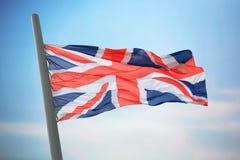 stor britain flagga Fotografering för Bildbyråer