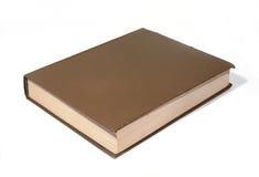 Stor brun bok arkivbild